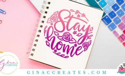 Stay Home Floral Circle Free SVG Cut File