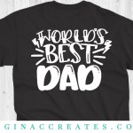 free father's day svg world's best dad