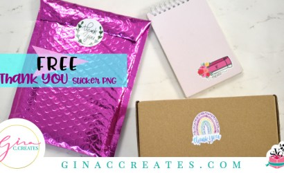 Free Thank You Stickers PNG with Print and Cut Tutorial