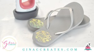how to use cricut easypress mini on flip flops