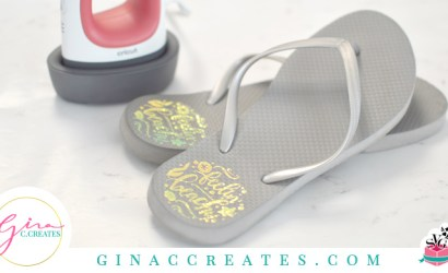 How to Apply HTV to Flip Flops with Cricut Easypress Mini