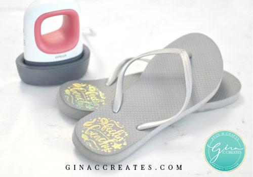 flip flop diy cricut easypress mini