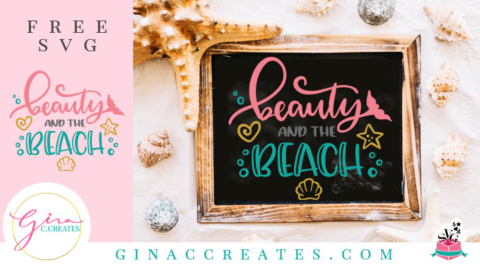 free beach svg cut file