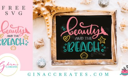 Beauty and the Beach Free Summer SVG Cut Files