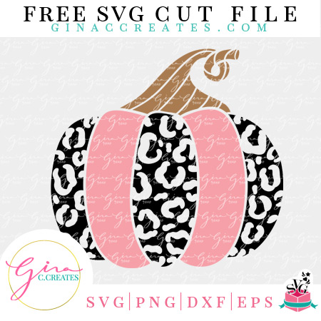 free leopard pumpkin svg cut file