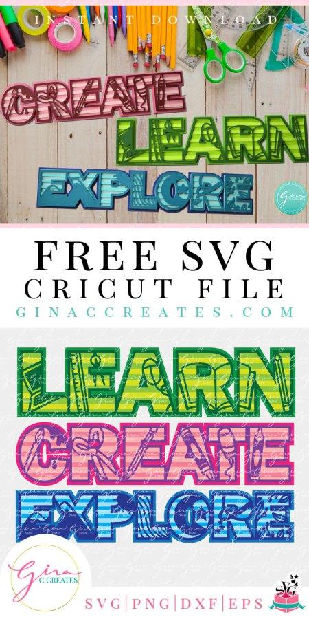 3D classroom homeschool SVG cut files