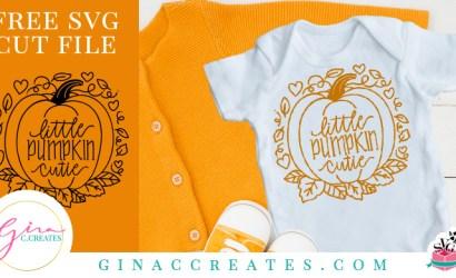 Little Pumpkin Cutie Fall SVG Cut File