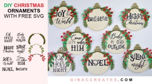 free christmas ornament svg diy