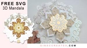 Free Christmas 3D Paper Mandala SVG