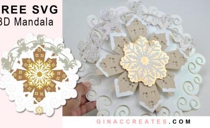 3D Christmas Paper Mandala Free SVG & Tutorial