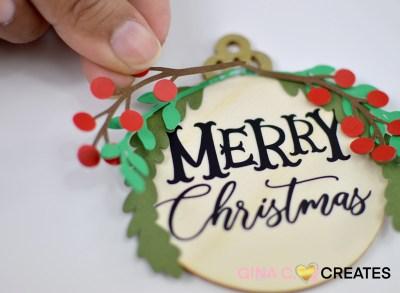 free christmas ornament svg diy
