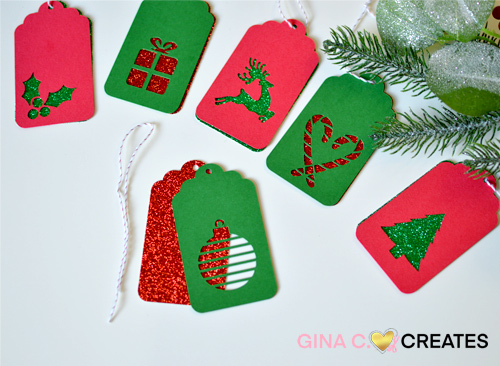 free Christmas Holiday gift tags SVG
