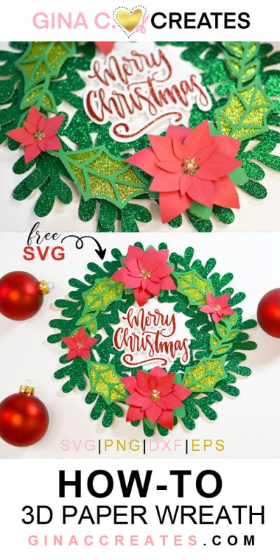 how to make a 3D paper wreath cricut