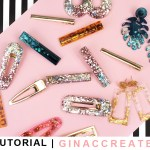 how to make UV Resin Earrings and Hair clips