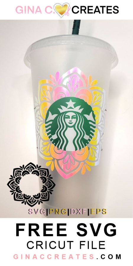 free svg mandala starbucks cup logo