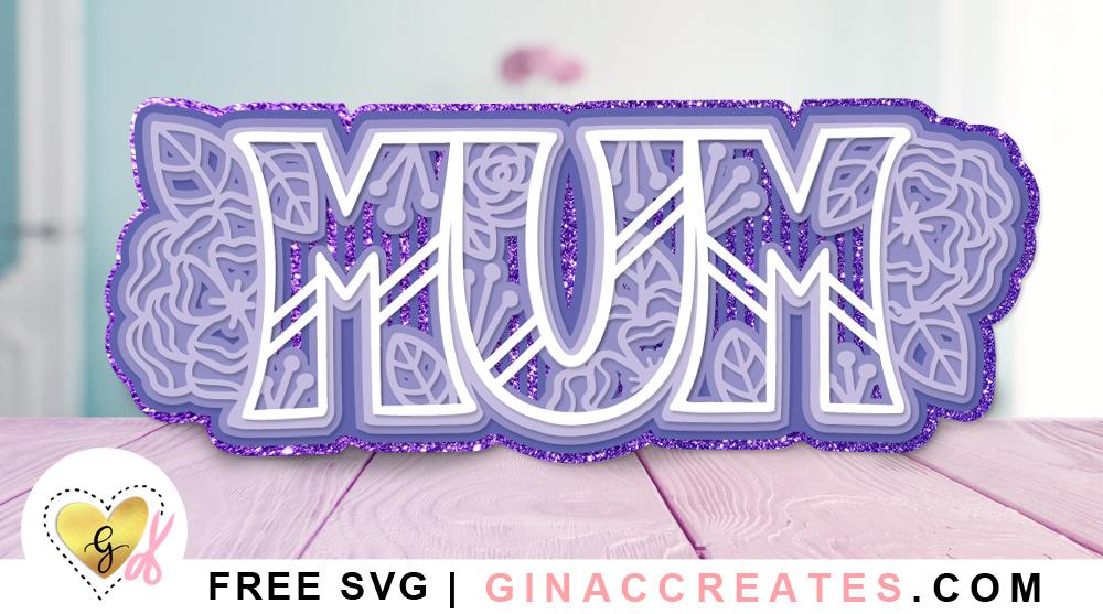 3D layered MUM mandala free svg cut file