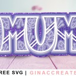 3D layered MUM mandala free svg cut file