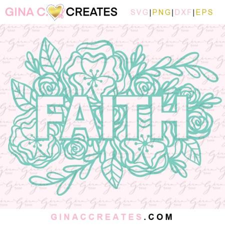 free Christian Faith Flower SVG