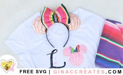 How to make Disneyland Concha Minnie Mouse Ears | Free Pattern