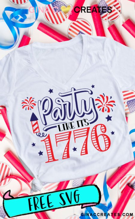 party like it's 1776 Free SVG