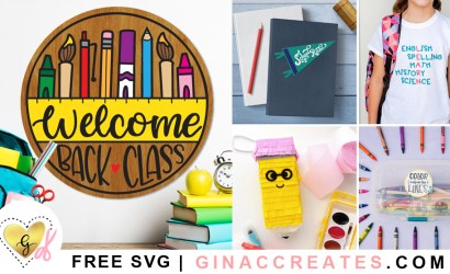 Back to School Free SVG Cut Files