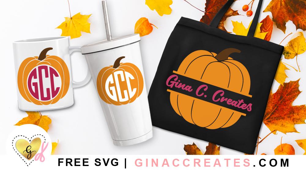 free Monogram Pumpkins SVG cut files