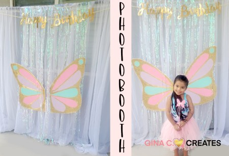 butterfly party ideas photo booth