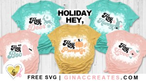 free holiday svg cut files, hey boo svg