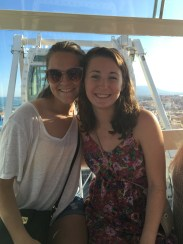 I rode a Ferris wheel in Málaga with a fellow Chronicle member, India!