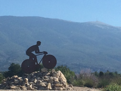 Mt. Ventoux n the far distance.