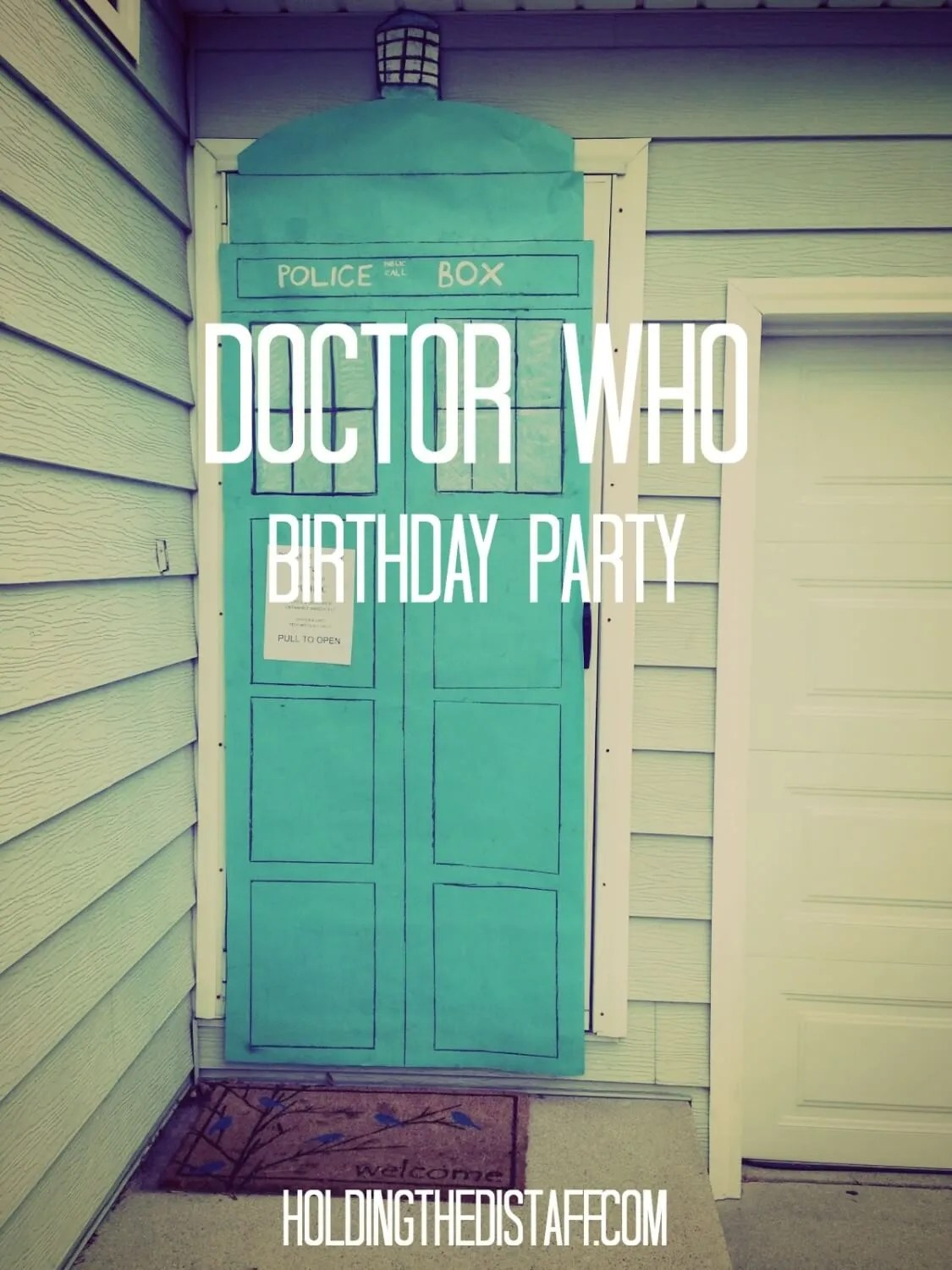 Doctor Who Birthday Party: Simple ideas to have a really great time in the Tardis.