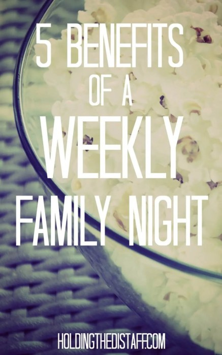 5 Benefits of a Weekly Family Night: how our family movie night ritual has become a favorite in our home.