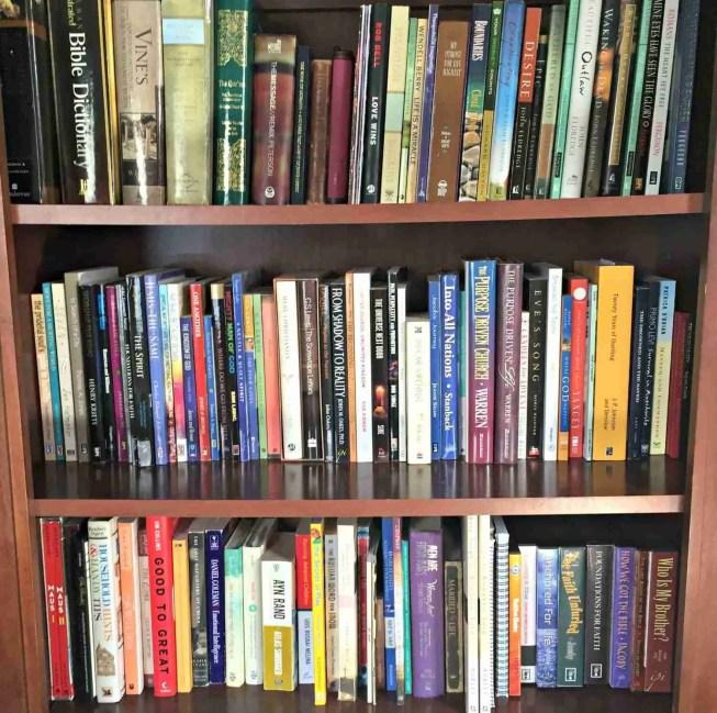 Tidy Bookshelf After KonMari Decluttering