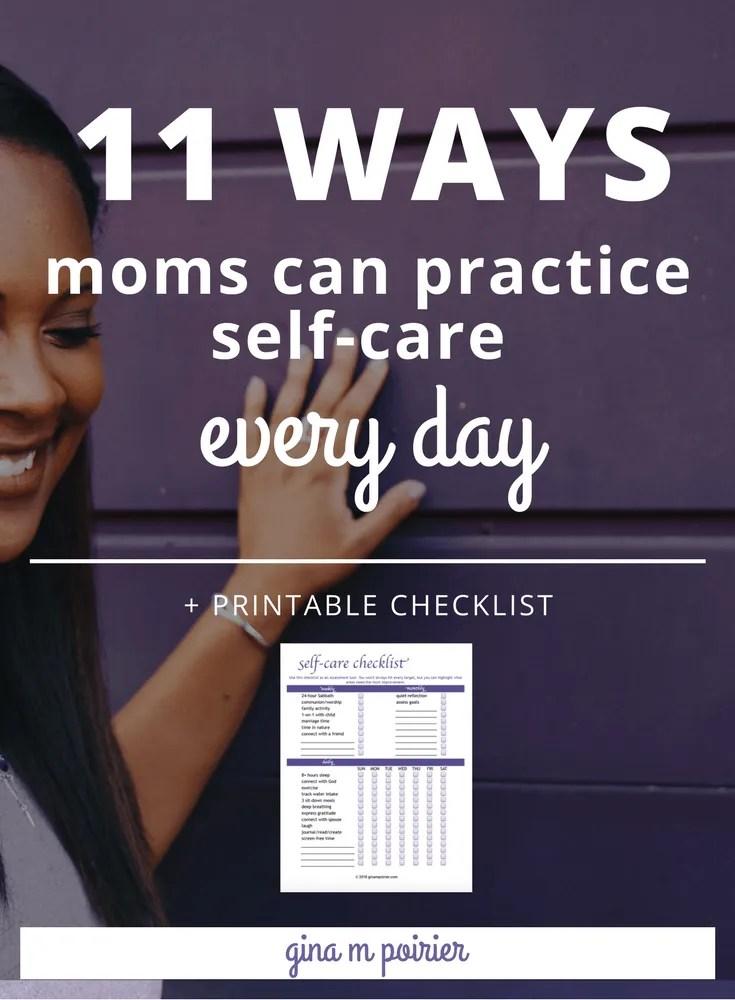Daily Self-Care Checklist | Self-Care Ideas for Christian Moms