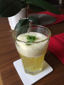 Another shot of the finished drink.