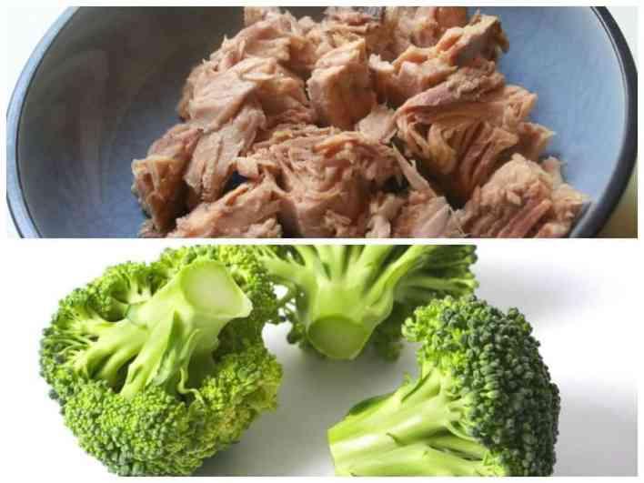 alimentos para perder gordura atum e brocolos