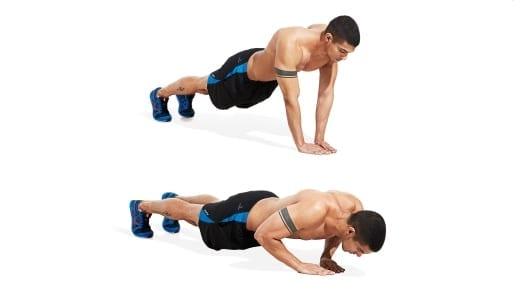 flexiones cortas