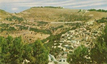 הנוף הנשקף מעל עמק התכלת לכיוון הר כנען, תחילת המאה ה20