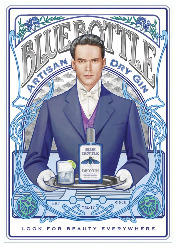Stemningsbillede Blue Bottle Gin