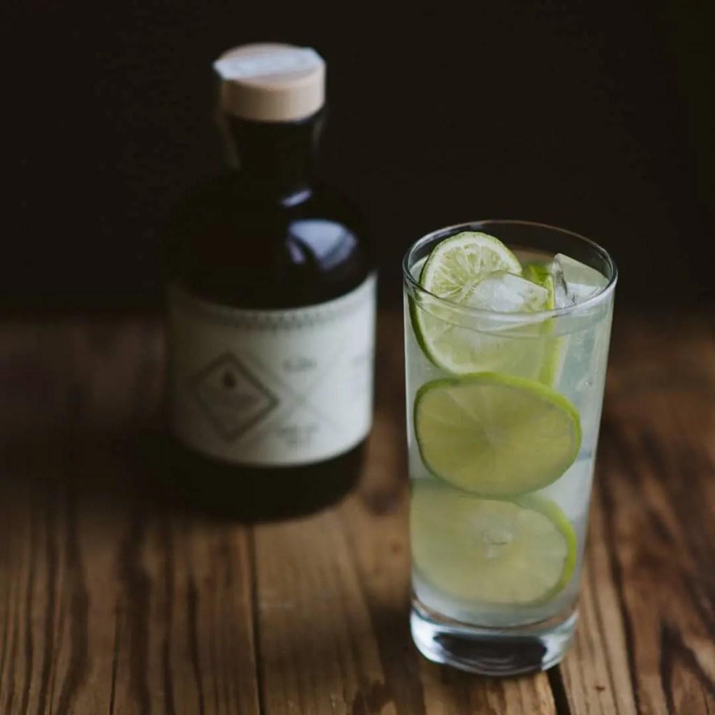 Billede af gin og tonic med destillerie paris gin