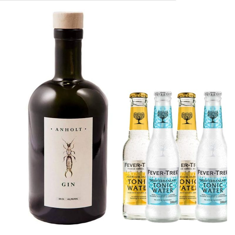 Anholt Gin med 4 Fever Tree Tonics
