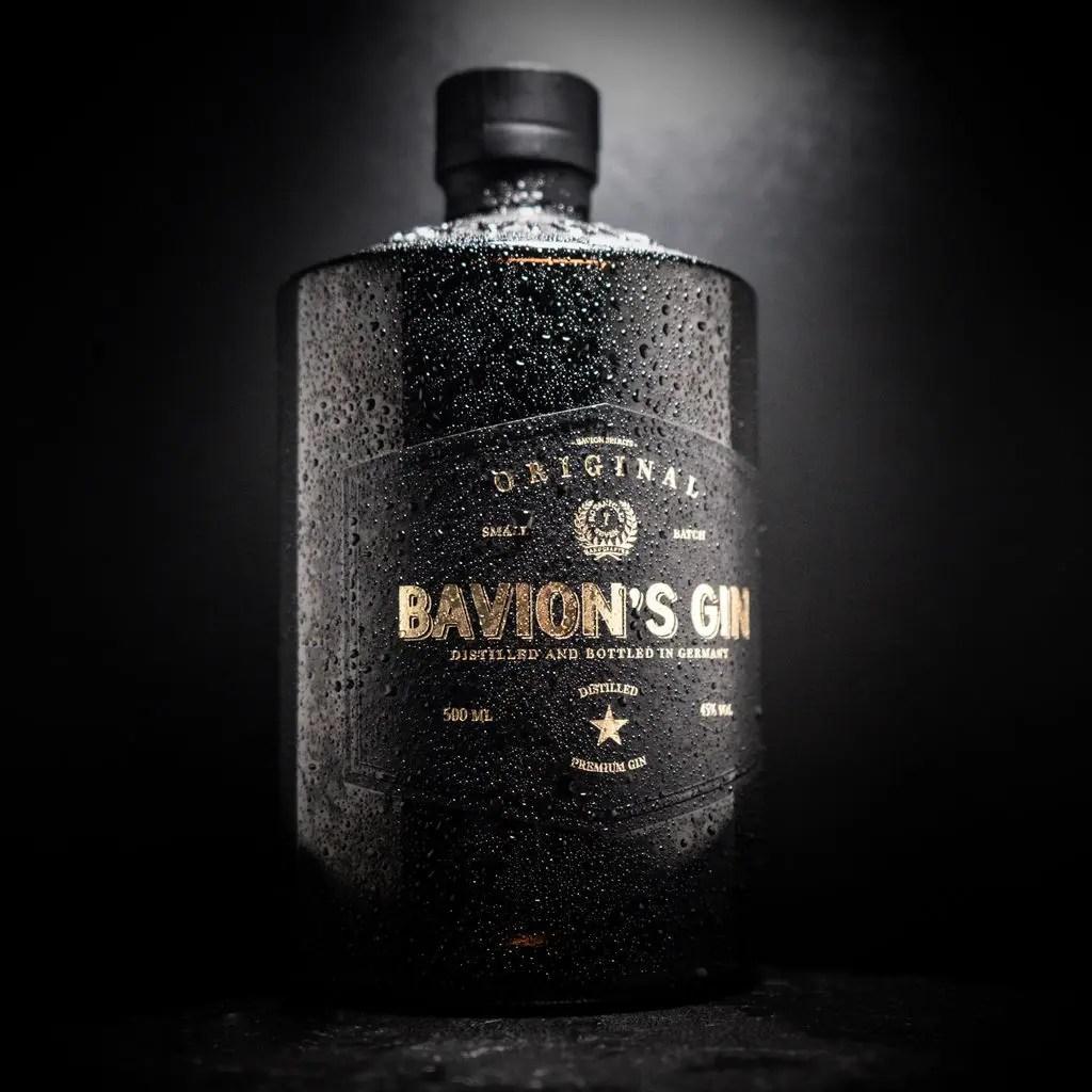 Billede af en flaske bavions original gin med effekt