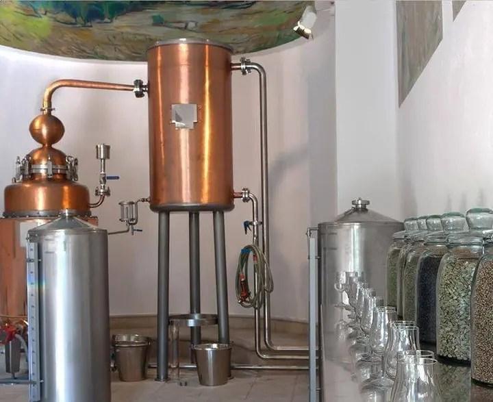 Billede fra Gin Mare destilleriet