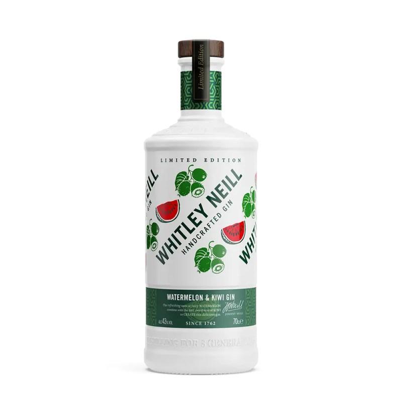 Billede af en flaske Whitley Neill Watermelon Kiwi Gin