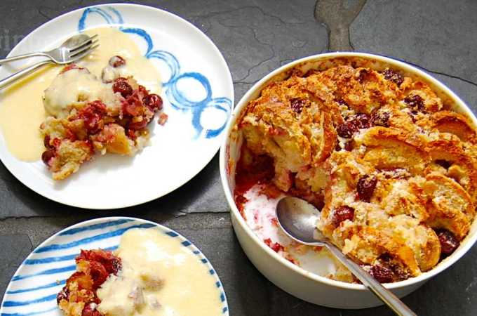 Kirschenmichel, or Bread and Butter Pudding with Cherries