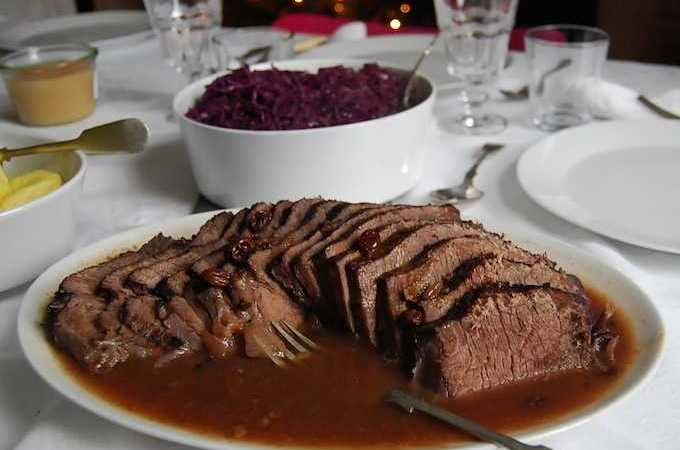 Sauerbraten Roast with Gingerbread Gravy: Christmas Dinner in a Pot.
