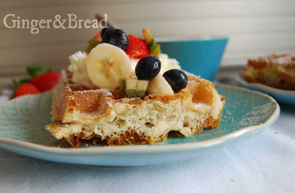 Belgian waffles with yeast
