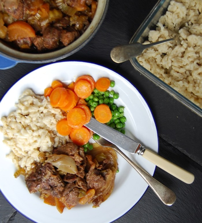 Stew and Spätzle