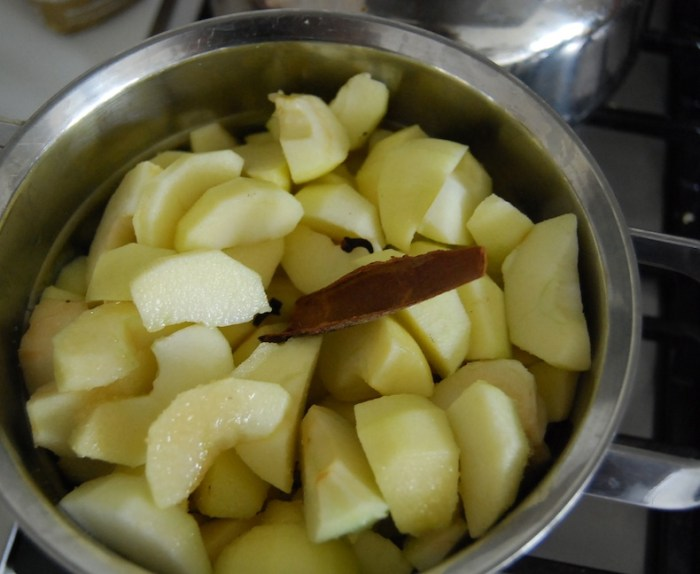 Steamed Apple steaming