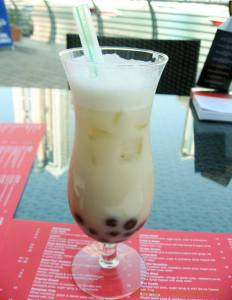 bubble tea at noodle house, Dubai